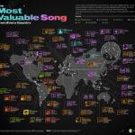 El mapa con las canciones más reproducidas del mundo