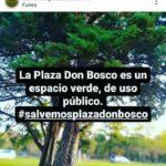 Vecinos se movilizan para defender la Plaza Don Bosco